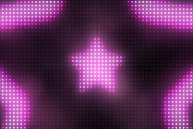 Яркие мигающие огни доска звезда 3d иллюстрации фона