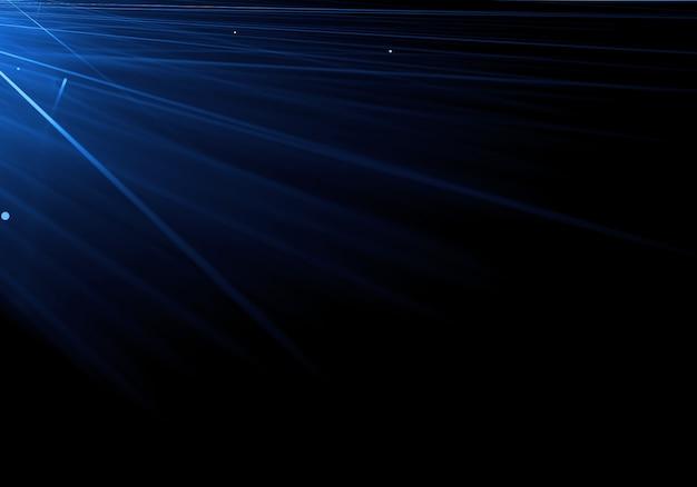 Bright blue lines dark background
