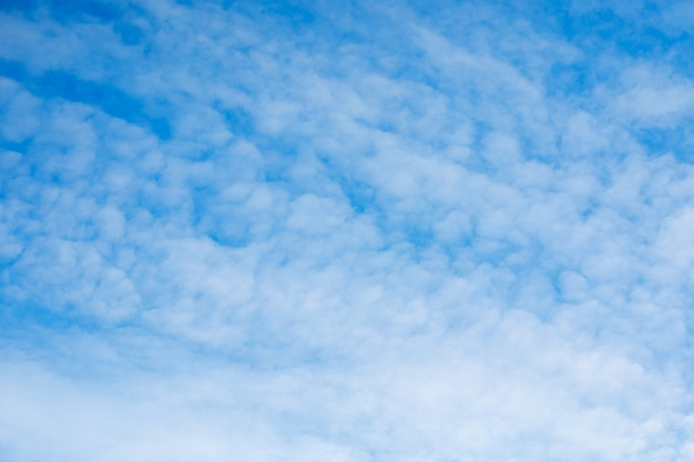 Bright blue sky with cirrus clouds. beautiful natural background.