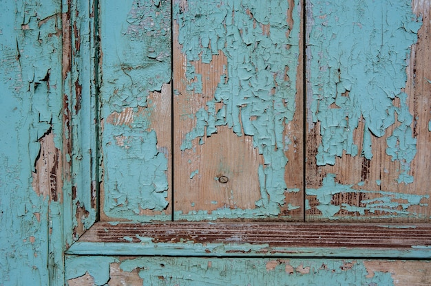 Bright blue wooden background