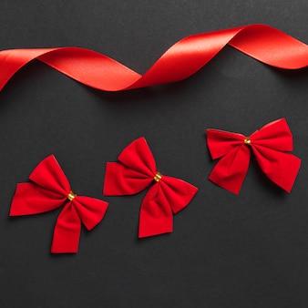 Bright bows and curling ribbon