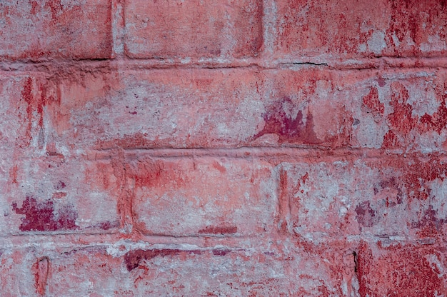 Bright brick texture from an old shabby wall