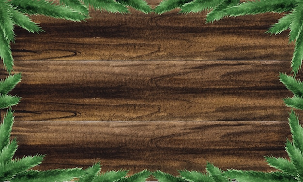Bright christmas decorations on a textured wooden surface