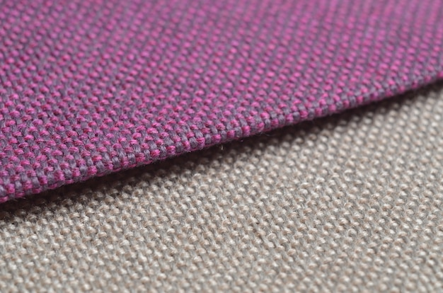 Bright collection of colorful gunny textile samples.
