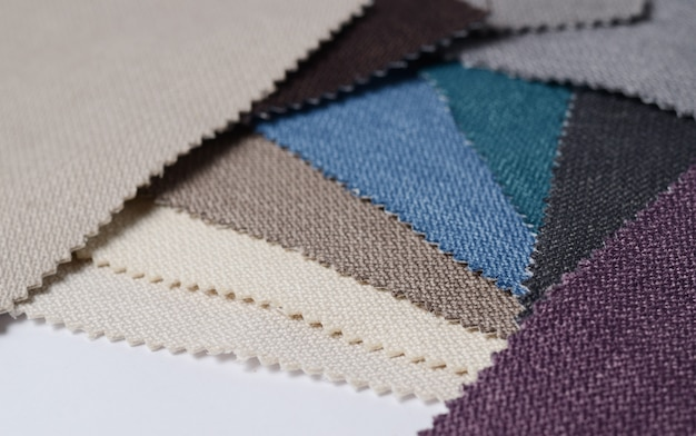 Bright collection of gunny textile samples