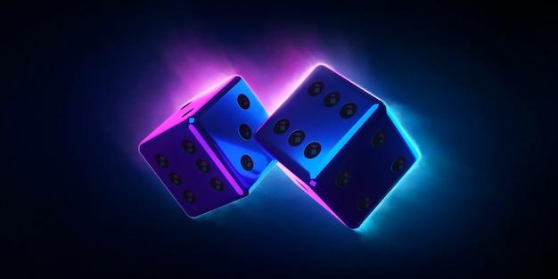 Bright colored dice
