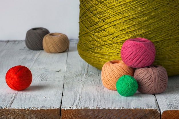 Bright colored thread