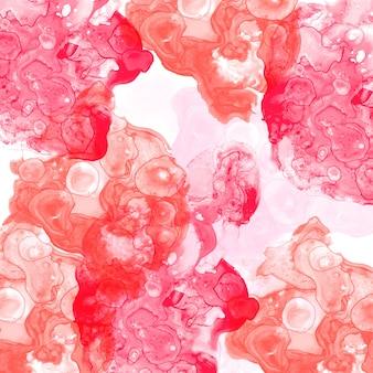 밝은 다채로운 추상 유체 페인팅 배경. 알코올 잉크 기술