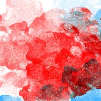Яркая красочная абстрактная картина жидкости