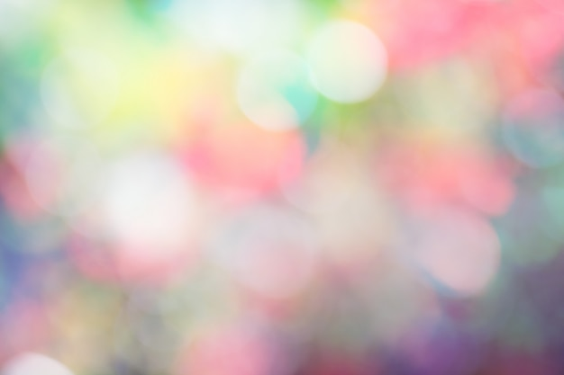 Of a bright colorful bokeh background