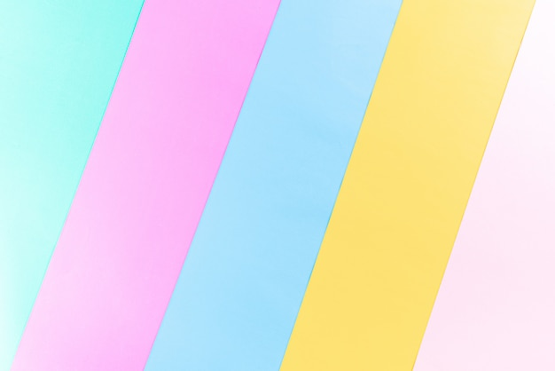 Bright colorful paper background with copy space for summer concept. flat lay.