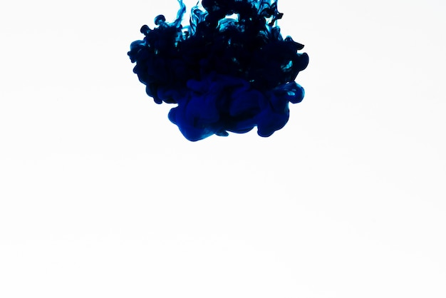 Bright dark blue ink on white