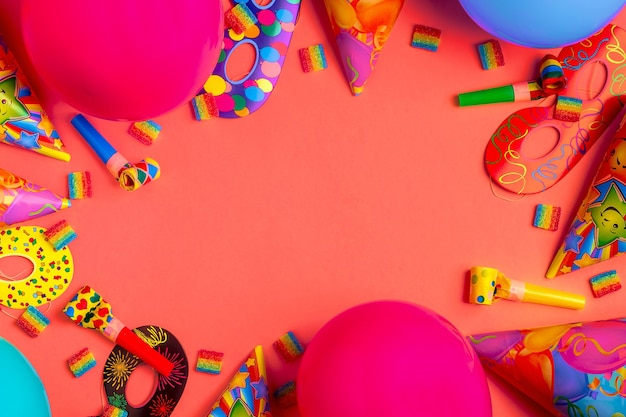 생일, 파티, 축제 또는 카니발을위한 밝은 장식.