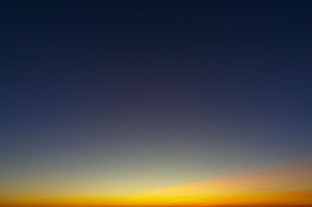 Bright evening sky after sunset.