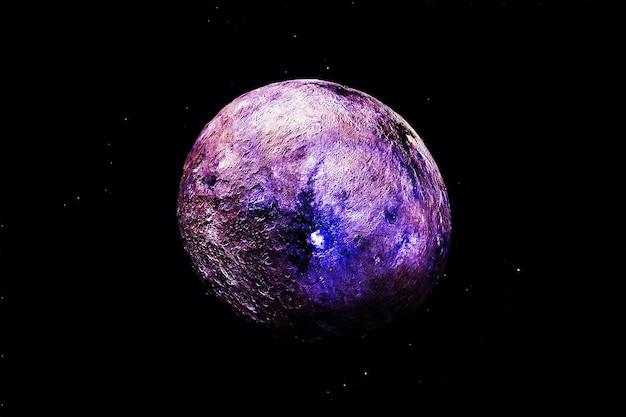 Яркая экзопланета на темном фоне. элементы этого изображения были предоставлены наса. фото высокого качества