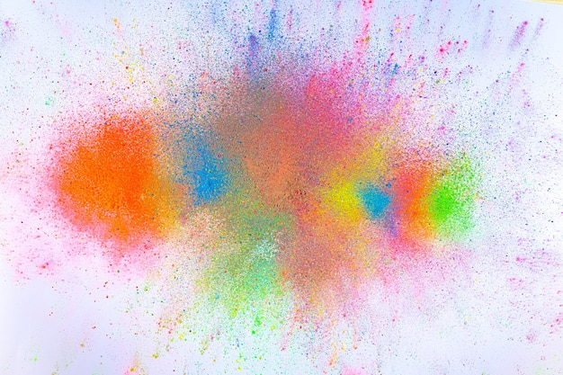 The bright explosion of colorful inkes