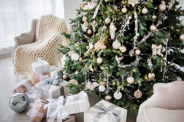 Bright festive christmas interior
