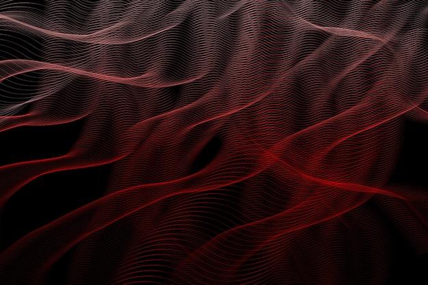Яркие огненные линии на черном фоне для дизайна