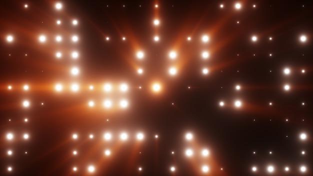 光の光線とledライトの明るいフラッシュ3 dイラスト