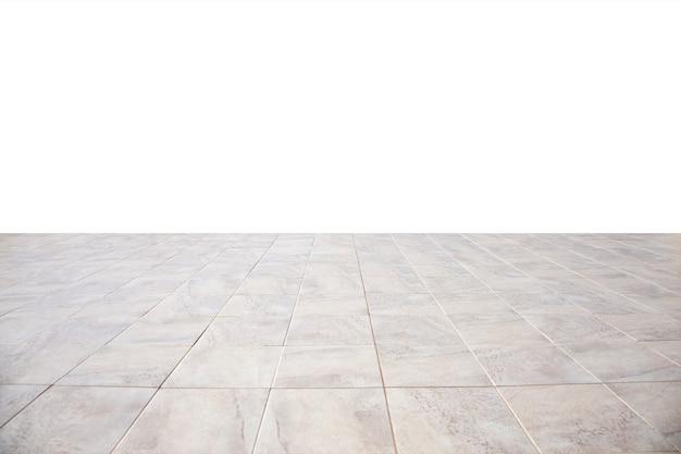 Bright floor tiles going into perspective Premium Photo