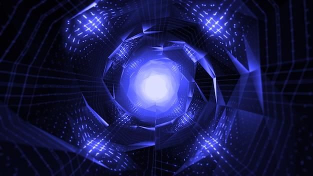 Bright futuristic tunnel