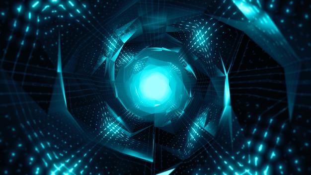 明るく未来的なトンネル