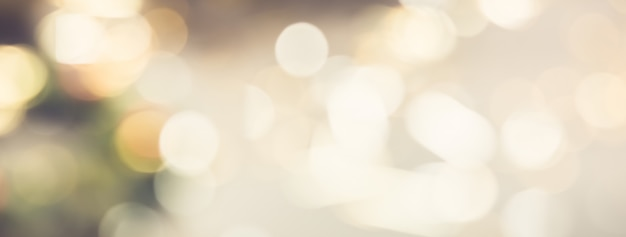 Bright golden bokeh abstract banner background
