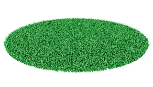 Bright green lawn 3d illustration