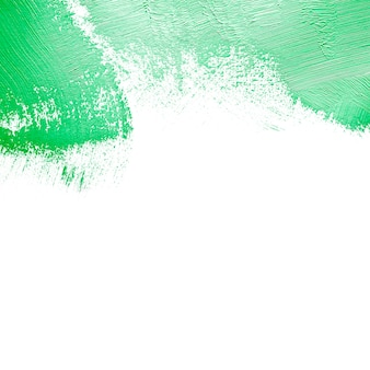 Bright green stroke on white wall