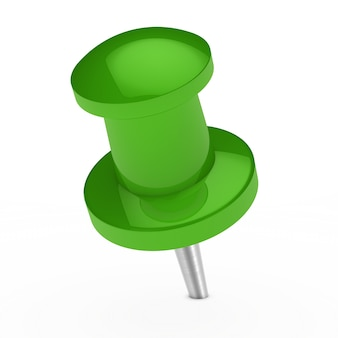 Bright green thumbtack