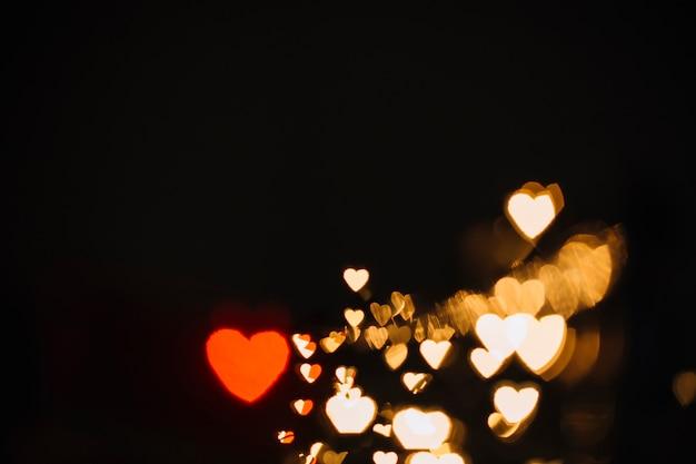 Bright heart-shaped spots