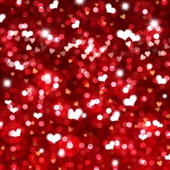 Bright hearts for valentine