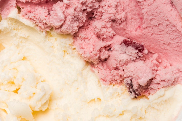 Bright ice cream texture