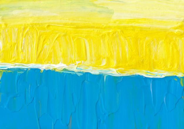 Яркий лимонно-желтый синий и белый фон