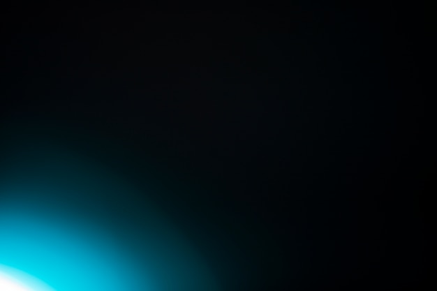 Bright light on black background