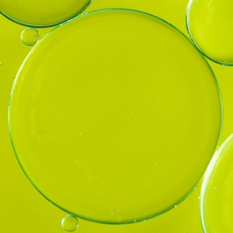 Bright lime bubbly abstract background