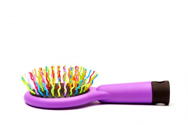 Bright multi-colored hair comb