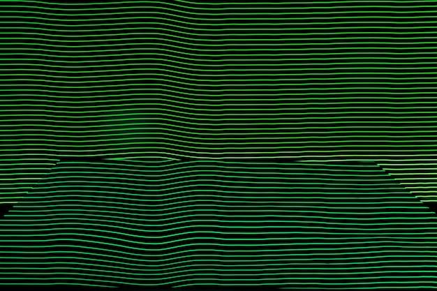 明るいネオンラインデザインの背景、長時間露光で撮影、緑