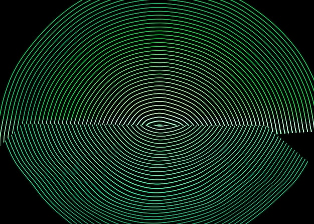 Bright neon line designed background, shot with long exposure, green