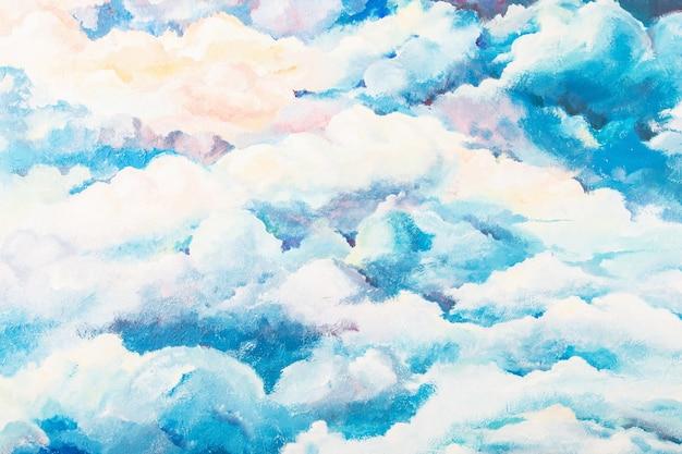 Яркая окрашенная поверхность облачного неба