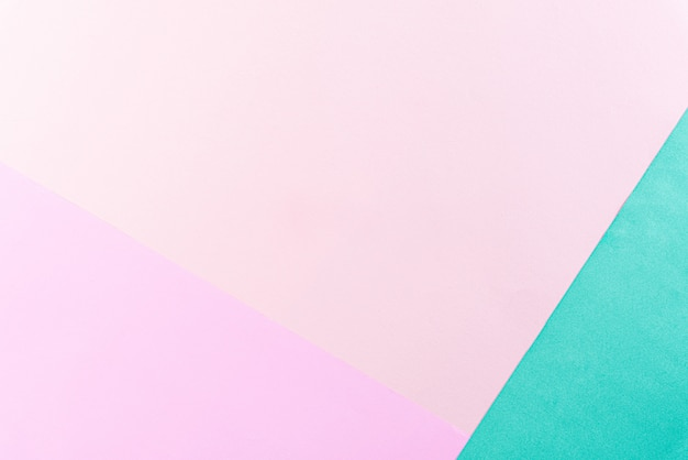 Bright pastel color paper background with copy space for summer concept. flat lay.