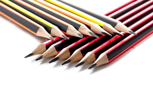 Bright pencils isolated on a white.