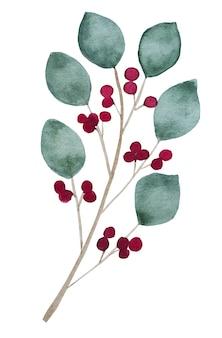Яркая картина с изображением нарисованных растений. акварельная краска