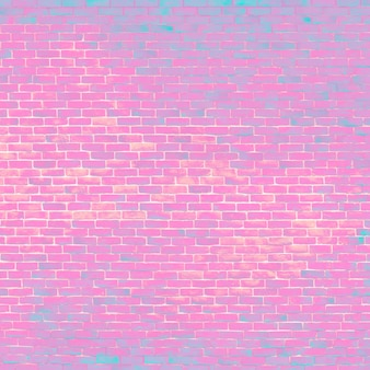 Bright pink brick background