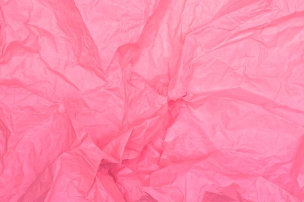 Bright pink crumpled paper texture, pink background, wallpaper