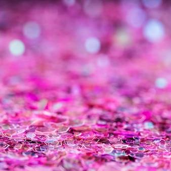 鮮やかなピンクのキラキラ