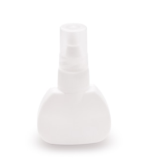 Bright plastic bottle lid closed isolated