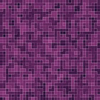 Mosaico quadrato viola brillante per sfondo strutturale.