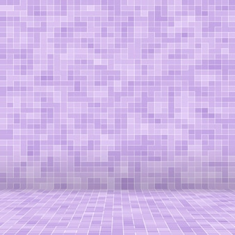 Bright purple square mosaic for textural.