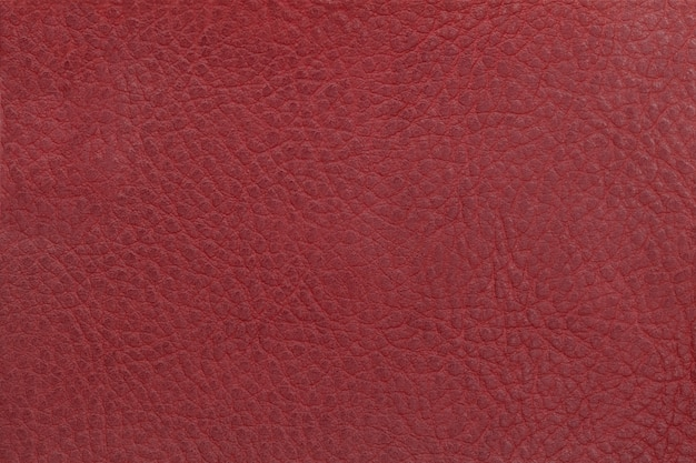 Bright red leather texture background